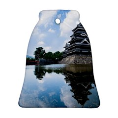 Beautiful Pagoda On Lake Nature Wallpaper Ornament (bell)