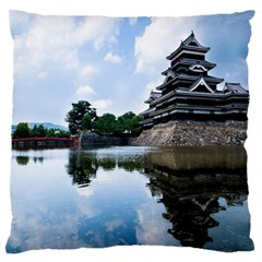 Beautiful Pagoda On Lake Nature Wallpaper Large Cushion Case (two Sides)