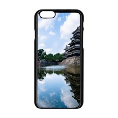 Beautiful Pagoda On Lake Nature Wallpaper Apple Iphone 6/6s Black Enamel Case