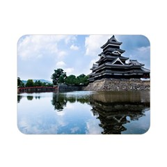 Beautiful Pagoda On Lake Nature Wallpaper Double Sided Flano Blanket (mini)