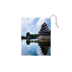 Beautiful Pagoda On Lake Nature Wallpaper Drawstring Pouches (xs)