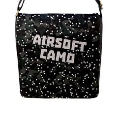 Airsoft Camo Flap Closure Messenger Bag (l)