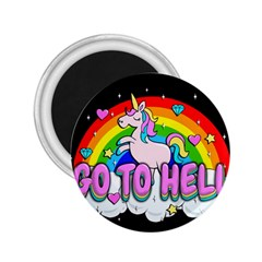 Go To Hell   Unicorn 2 25  Magnets by Valentinaart