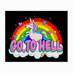 Go To Hell   Unicorn Small Glasses Cloth