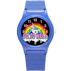 Go To Hell   Unicorn Round Plastic Sport Watch (s) by Valentinaart