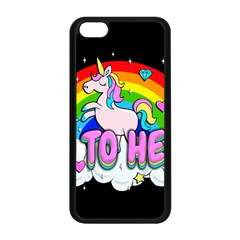 Go To Hell   Unicorn Apple Iphone 5c Seamless Case (black)