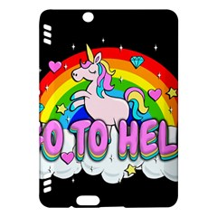 Go To Hell   Unicorn Kindle Fire Hdx Hardshell Case