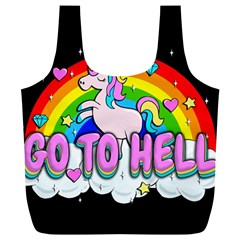 Go To Hell   Unicorn Full Print Recycle Bags (l)