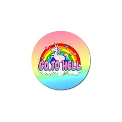 Go To Hell   Unicorn Golf Ball Marker (10 Pack) by Valentinaart