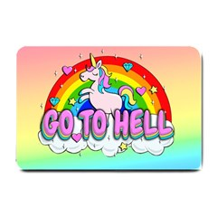 Go To Hell   Unicorn Small Doormat