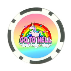 Go To Hell   Unicorn Poker Chip Card Guard