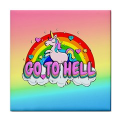 Go To Hell   Unicorn Face Towel