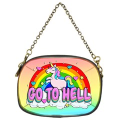 Go To Hell   Unicorn Chain Purses (one Side)  by Valentinaart