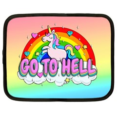 Go To Hell   Unicorn Netbook Case (xxl)  by Valentinaart