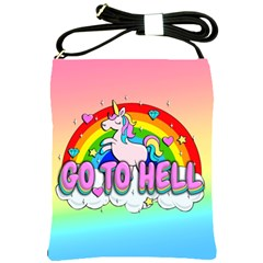 Go To Hell   Unicorn Shoulder Sling Bags