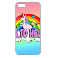 Go To Hell   Unicorn Apple Seamless Iphone 5 Case (clear)