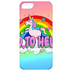 Go To Hell   Unicorn Apple Iphone 5 Classic Hardshell Case by Valentinaart