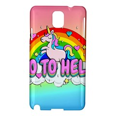 Go To Hell   Unicorn Samsung Galaxy Note 3 N9005 Hardshell Case