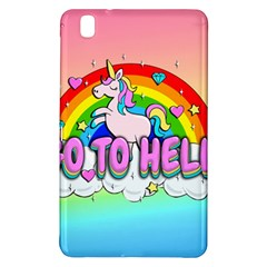 Go To Hell   Unicorn Samsung Galaxy Tab Pro 8 4 Hardshell Case by Valentinaart
