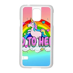 Go To Hell   Unicorn Samsung Galaxy S5 Case (white)
