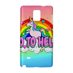Go To Hell   Unicorn Samsung Galaxy Note 4 Hardshell Case by Valentinaart