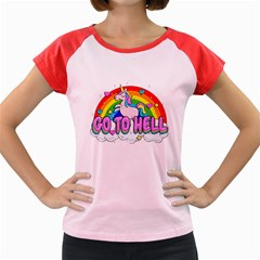 Go To Hell   Unicorn Women s Cap Sleeve T Shirt