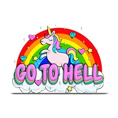 Go To Hell   Unicorn Plate Mats