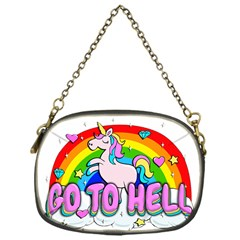 Go To Hell   Unicorn Chain Purses (one Side)