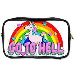 Go To Hell   Unicorn Toiletries Bags