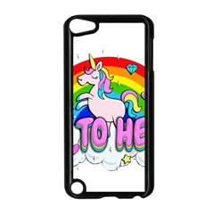 Go To Hell   Unicorn Apple Ipod Touch 5 Case (black)