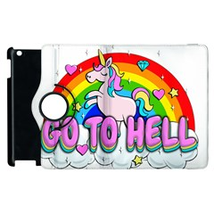 Go To Hell   Unicorn Apple Ipad 2 Flip 360 Case