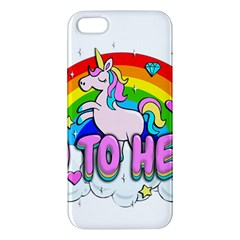 Go To Hell   Unicorn Apple Iphone 5 Premium Hardshell Case