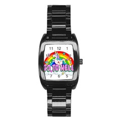 Go To Hell   Unicorn Stainless Steel Barrel Watch