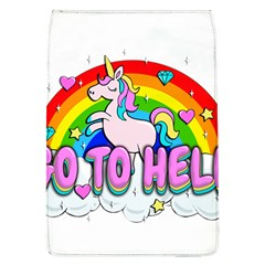 Go To Hell   Unicorn Flap Covers (l)  by Valentinaart