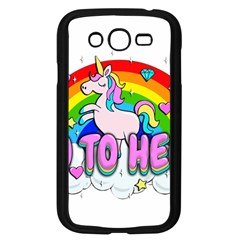 Go To Hell   Unicorn Samsung Galaxy Grand Duos I9082 Case (black) by Valentinaart