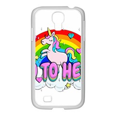 Go To Hell   Unicorn Samsung Galaxy S4 I9500/ I9505 Case (white)