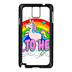 Go To Hell   Unicorn Samsung Galaxy Note 3 N9005 Case (black)