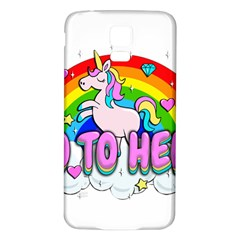 Go To Hell   Unicorn Samsung Galaxy S5 Back Case (white)
