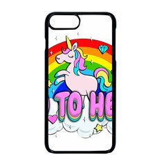 Go To Hell   Unicorn Apple Iphone 8 Plus Seamless Case (black) by Valentinaart