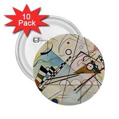 Composition 8   Vasily Kandinsky 2 25  Buttons (10 Pack)