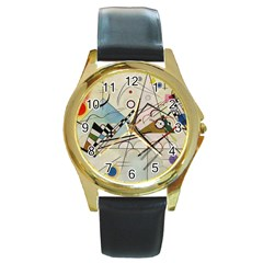Composition 8   Vasily Kandinsky Round Gold Metal Watch