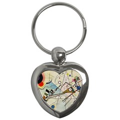 Composition 8   Vasily Kandinsky Key Chains (heart)