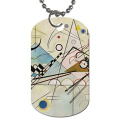 Composition 8   Vasily Kandinsky Dog Tag (two Sides)