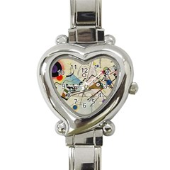 Composition 8   Vasily Kandinsky Heart Italian Charm Watch