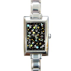 Space Pattern Rectangle Italian Charm Watch