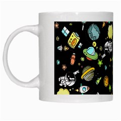 Space Pattern White Mugs by Valentinaart