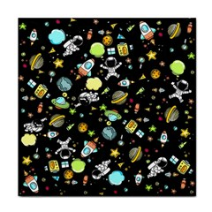 Space Pattern Face Towel