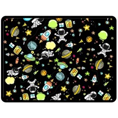 Space Pattern Fleece Blanket (large)