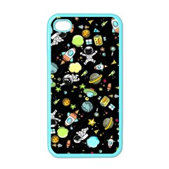 Space Pattern Apple Iphone 4 Case (color) by Valentinaart