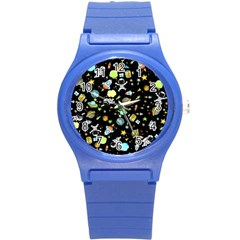Space Pattern Round Plastic Sport Watch (s)